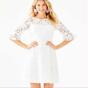 Lilly Pulitzer | NWT Allyson White Lace Dress 0 00